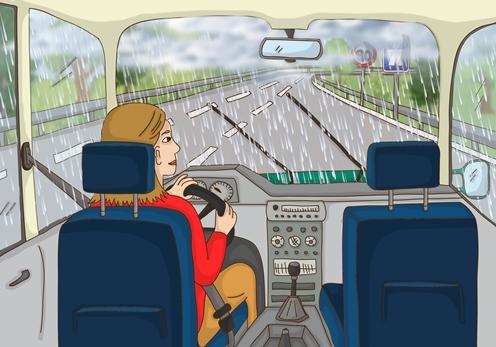 conduir amb pluja